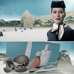 "Thank You motion graphics, out of Copenhagen, did a great ""in flight video for Iceland Air"