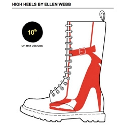 Dr Martens is having a design contest where you can vote on boots designed by fans.  This one by Ellen Webb caught my eye.
