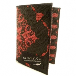 Sexy wallets/billfolds made from recycled vintage ties, so every one is unique. Don't know what that has to do with whales, but cool nonetheless. by Narwhal