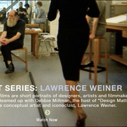 """When searching for something, anything... I'll always go back to the """"Artist series"""" by Hillman Curtis : Paula Scher, Milton Glaser, Mark Romanek, Lawrence Weiner... So much to watch, listen, learn, remember, do."""