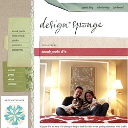 Congrats to Design*Sponge on her big redesign!