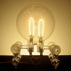 Incandescent Sculpture ~ these light bulb lamps have so much character and perfect for mood lighting... and for a small fee they are also refillable upon burnout