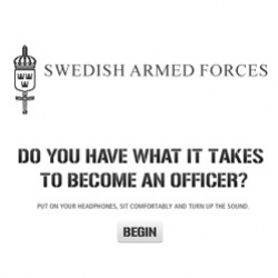 Wow... Amazing recruitment site to the Swedish Armed Forces... Cool tests to check you skills... Awesome