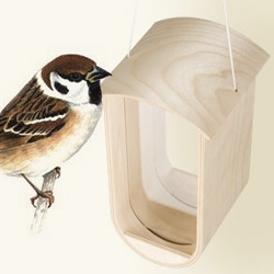 "Arcamita's ""feed"" is an adorable woody bird feeder for small songbirds"