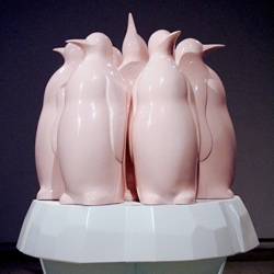 Tim Berg's Installation, Hope Springs Eternal, 2007 ~ has incredibly cool penguins