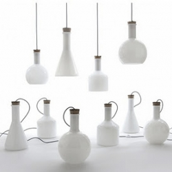 Labware cone table/floor lamp collection, designed by Benjamin Hubert.