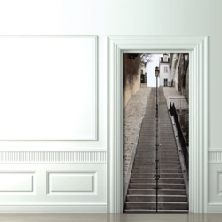 Couture Deco's Trompe-l'Oeil -  Add personality to your doors.. With this authentic and well-known Parisian district landmark: Montmartre's stairs.