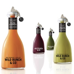 """Wild Bunch & Co ~  gorgeous bottling ~ they even come to pick them up after your event. etc. to reuse ~ 100% organic, """"The Best Pressed Juice on Earth"""""""