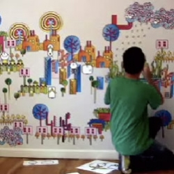 Undoboy installing his city of BLIK! Great video that is mesmerizing - both visually and musically!