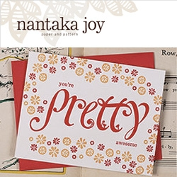 "Oh Joy! Has launched her store ~ Nantaka Joy, and she has some adorable cards and notebooks... ""you're pretty awesome"""