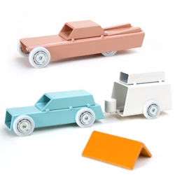 ArcheToys turned up at Dutch Design Week. They're awesome little metal cars--and campers and tents--by Eindhoven grad Floris Hovers.