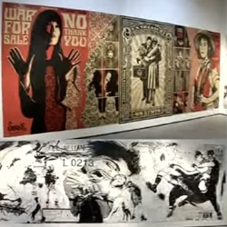 Shepard Fairey vs. WK ~ incredible video thats sure to get you inspired today! From start to finish to the streets with their crazy wall to wall filled gallery showing...