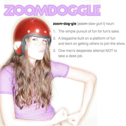Zoomdoggle ~ Fun for Fun's Sake! A cute new site taking on something fun and crazy daily - check out the A-team post-it mural (first post ever)