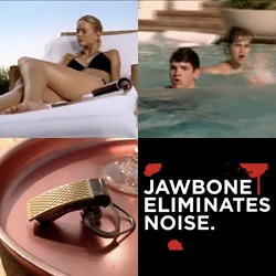 Over the top Jawbone ad/film ~ what happens when you combine a hot summers day, bikini clad girl, annoying pool boys, a shark, a jawbone bluetooth headset and a phonecall? [Also see the rugby one!]