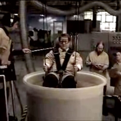 Apparently YES Essential's stain-proof seats can be completely dunked in chocolate and cleaned easily... cute commercial