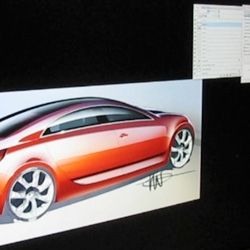 While at Calty Design Research, Toyota Project Chief Designer, Ian Carabiano gave me a little demo of his impressive wacom tablet car sketching... all shading/rendering by hand... see the video!