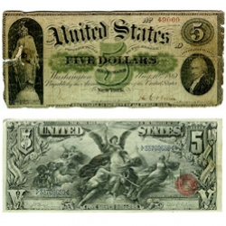 History in your Wallet - Portfolio Magazine shows us retro US Currency is cool, they should go back to 1861 designs