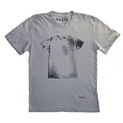 Although trying to wean myself of accumulating MORE tshirts - i kind of Paste's shirt that's so meta it has a shirt on it... and they managed to stop there without having a shirt on that shirt and on that shirt and...