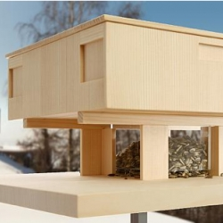 Birdhouses based on historical architectural models and made on a 1:33 scale. There are five different models, all are stunning and for sale. Site is in German, but they have a pdf price list.