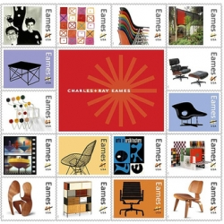 Big news! It was announced today that commemorative Eames Stamps will soon be available from the US post office! And, at 41 cents a pop,  it may be the only time you can afford their classic furniture.