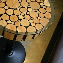 I love the coffee tables from the Salt Tasting Room in Vancouver, Cananda. They were designed by Brent Comber Originals.