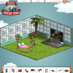 Ok ~ i remade my Comcast Town apt again ~ i do love the style of the campaign, but wish they had more options and a better ui! BUT, still helping judge their contest to give someone a $30,000 prize!