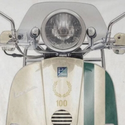 Fred Perry celebrates its 100th anniversary with a limited edition Vespa scooter. Its so beautiful, an instant classic!