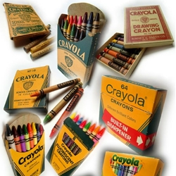 From the box to the individual crayon, a great  retrospect of Crayola Crayon's packaging.