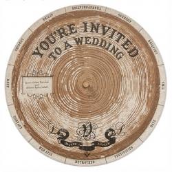 DIY woody wedding invitation wheel!!! Lauren Venell