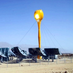 Designed by Aora Solar, the world's first hybrid solar power plant is set to go online next week - shaped like a giant tulip.