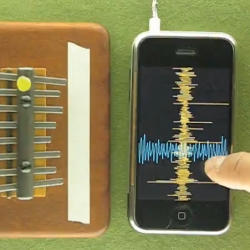 Granular synthesis comes to the iPhone.  Curtis, a new application from the Strange agency takes it's name from granular synthesis pioneer Curtis Roads.  See Curtis in action in this video from the Dust Breeding blog.