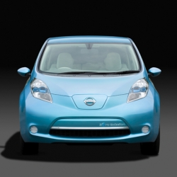 Nissan unveiled it's new all-electric car, the LEAF today! Going on sale in 2010, it's a slippery looking car. Nice touches throughout. Exciting!