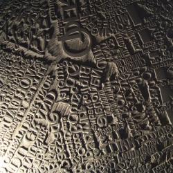 Mark Webber spent two months carving a map of paris! 150cm X 180cm.