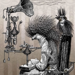Bethalynne Bajema does absolutely gorgeous illustrations in sepia tones... in a twisted baroque style.