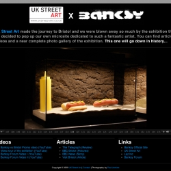 Exclusive Banksy vs Bristol microsite from the team at UK Street Art