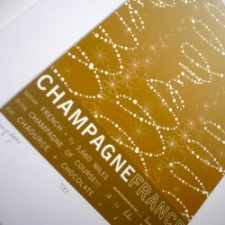 What a beautiful print for Champagne, France from J.Hill
