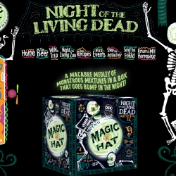 Magic Hat beer has an awesome design for their website for a contest for the Smithsonian Night of the Living Zoo.