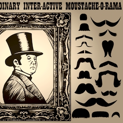 Lord Likely's Extra-Ordinary Inter-Active Moustache-O-Rama, created by Michael Whaite for lordlikely.com
