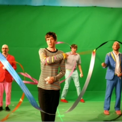 Ok Go collaborated with director Tim Nackashi on their latest video for the song WTF.  No treadmills seen here, but this video is trippy. Done in one take.