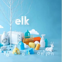 The new album (white vinyl) from the Minneapolis band elk. Designed by Karl Wolf.