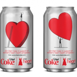 Comic artist Tom Gauld has produced some rather lovely work for a new series of cans for Diet Coke, the limited edition cans are designed to raise awareness of The Heart Truth.