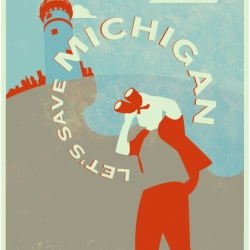 Jordan Walker's entry for the Let's Save Michigan poster contest focuses on the foresight necessary to change Michigan's future. It's a poster and a great cause and your vote is greatly appreciated.