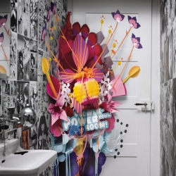 "Ambi Pur ""Pink flowers room spray"" is a great advertisement for restrooms by Jacques Pense & Michael Ohanian for Sara Lee Household & Body Care Germany. How creative!"