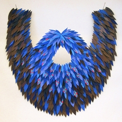 Gina Tuzzi's curious collection of acrylic paint, paper and felt beards.