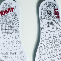Custom insole artwork by French designer So-Me for the new shoe collaboration from EdBanger Records and Etnies.