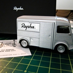 British cycling inspired brand Rapha will be opening their Cycling Club in NYC on July 1st. The invite is a delivery truck - just beautiful.