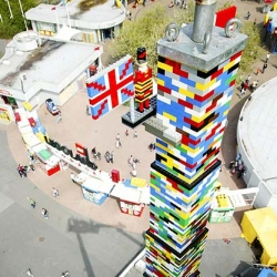 World's Tallest Lego Tower - This monster was built in the Legoland Windsor theme park in the U.K. of 500,000 LEGO bricks, and stands just shy of 100 feet high.