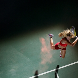NYTimes.com has an article on Woman Who Hit Hard. It's about female tennis players and it is accompanied by some stunning pictures.