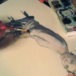 Quick video on the process of illustrating Paperfashion by Katie Rodgers.