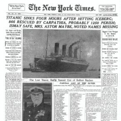 The New York Times officially launched their TimesMachine site that lets you see the original layouts of every New York Times paper since 1851.  Check out the sinking of the Titanic (shown)  and Lincolns assassination.